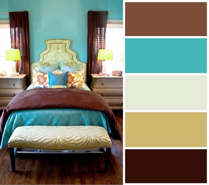 Какой цвет сочетается с бирюзовым в интерьере? 50+ фото идей