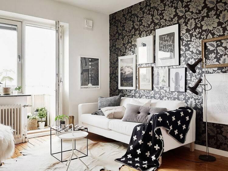 Отделка стен обоями: обзор современных вариантов + 75 фото дизайна