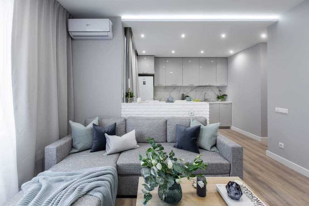 Дизайн квартиры 36 кв. м. – зонирование, идеи обустройства, фото в интерьере
