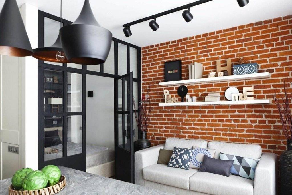 Гостиная в стиле лофт: молодежный вариант дизайна (100 фото)