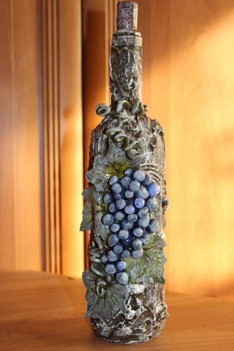 Декор бутылок — 120 интересных идей украшения своими руками (инструкции + фото)
