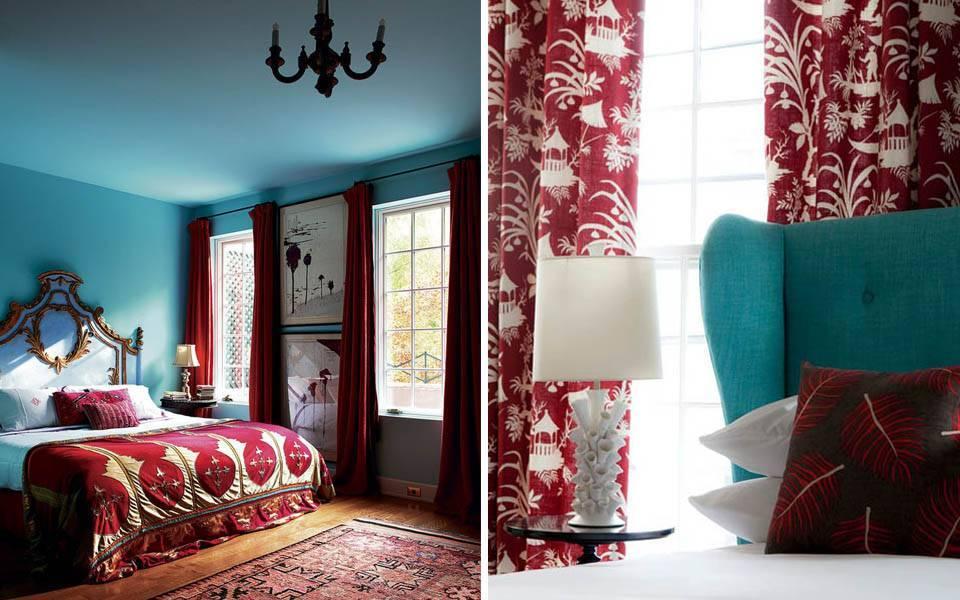 Бордовый цвет – использование в интерьере и для акцента на ярких деталях
