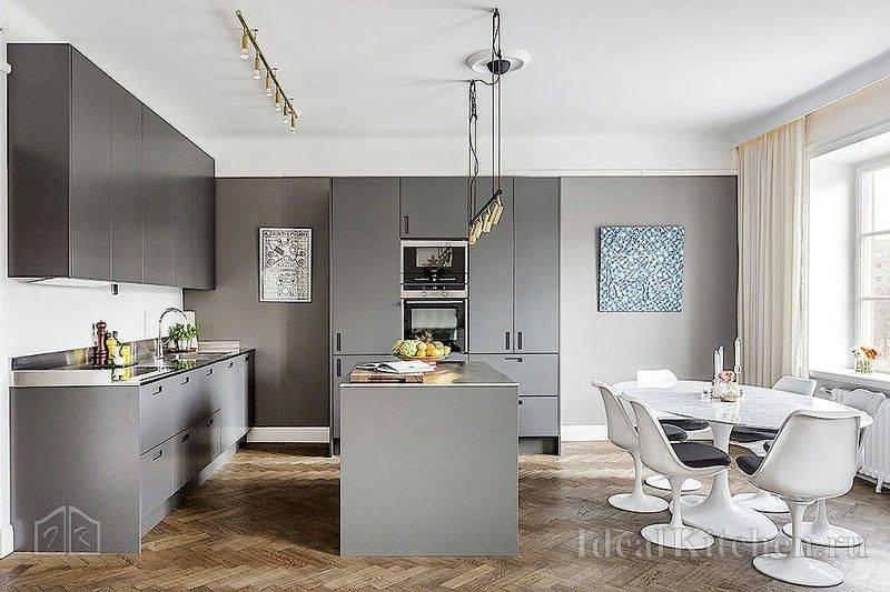 Кухня серого цвета: примеры интерьеров