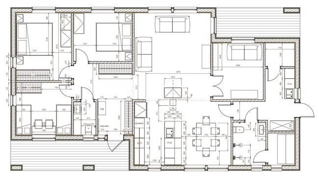 Фасад дома – чертёж от эскиза до готового проекта