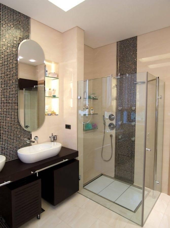 Ванная комната с душевой - 115 фото идей оформления и стилизации