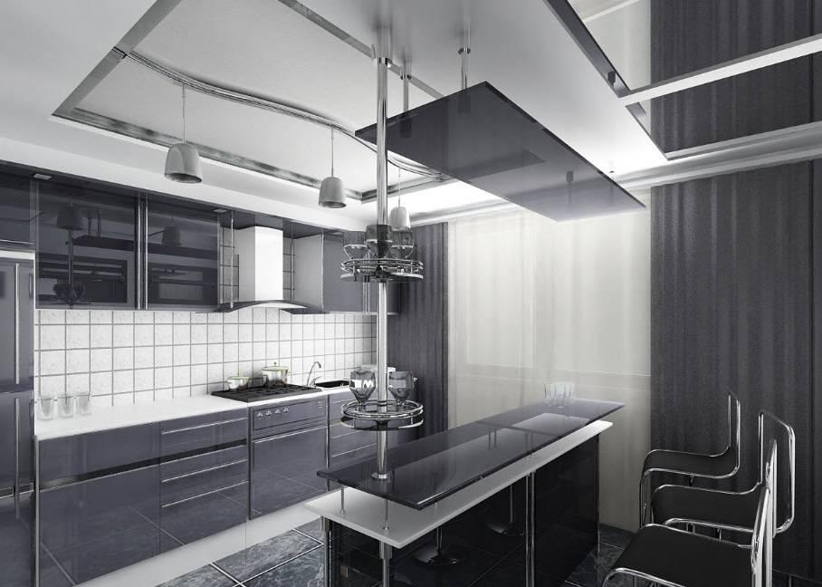 Кухня в стиле хай тек, описание, фото интерьеров, фото дизайн