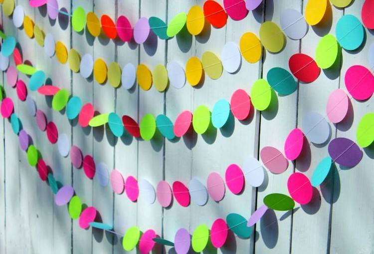 Гирлянда из бумаги: 120 фото идей на новый год