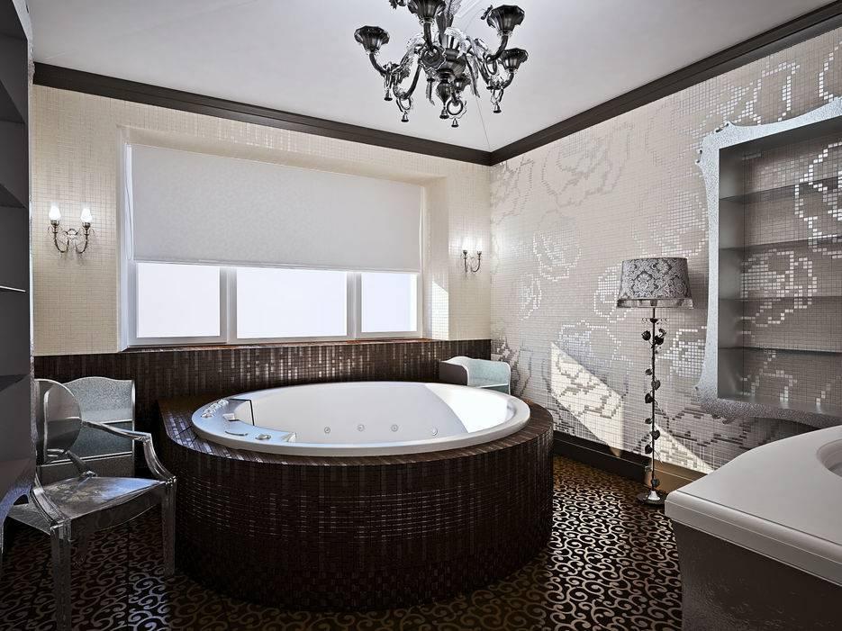 Угловые ванны в маленькой ванной