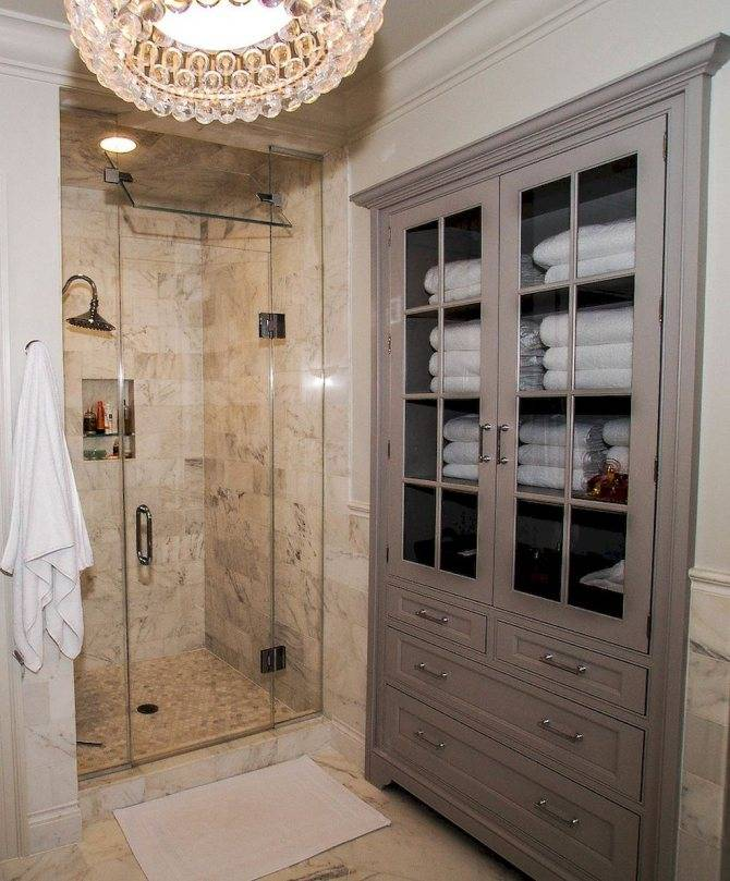 Шкаф в ванную – варианты применения прямых и угловых моделей (110 фото)