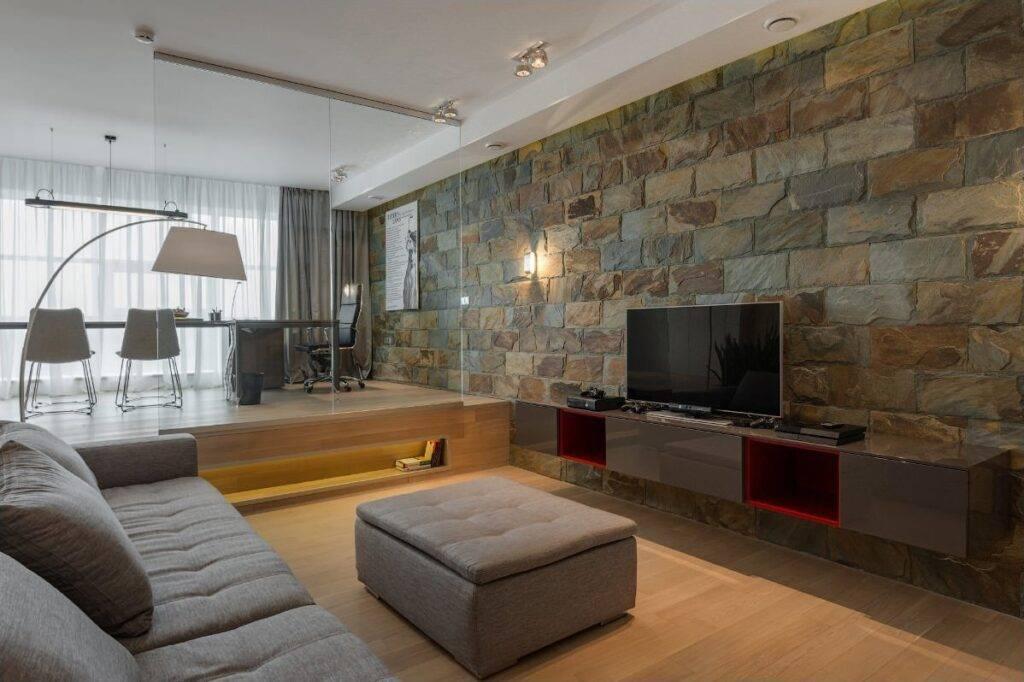 Декоративный камень в интерьере  | советы специалистов