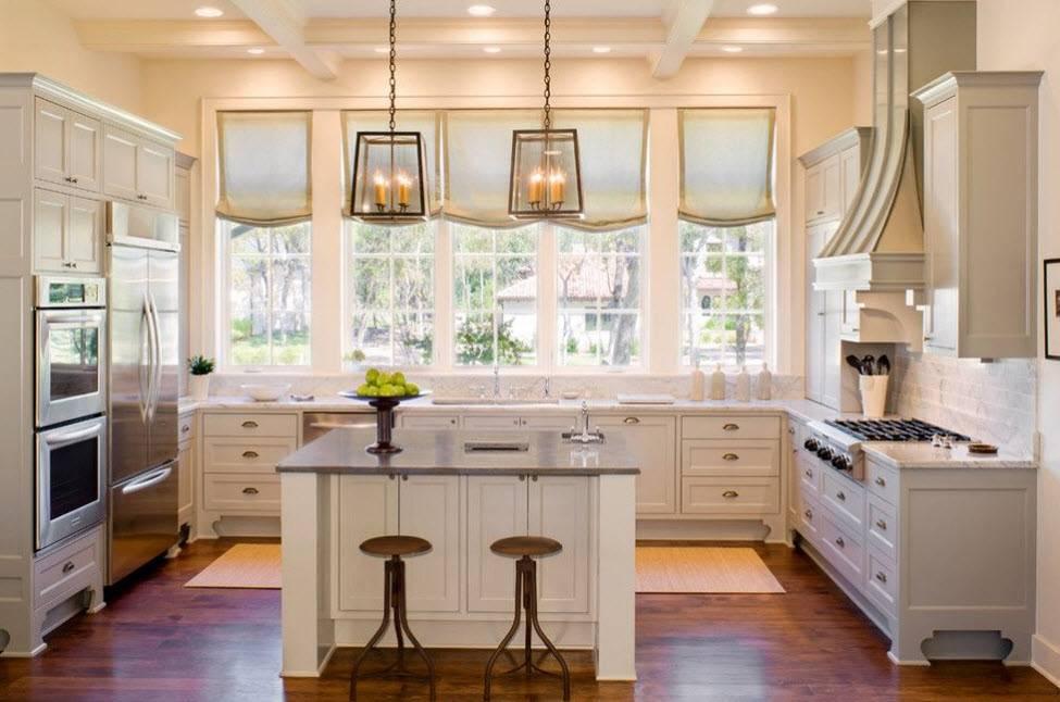 Дизайн кухни-гостиной: 100 самых удачных интерьеров