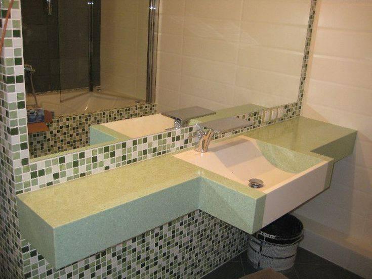 Столешница в ванную под раковину - 100 фото необычных идей
