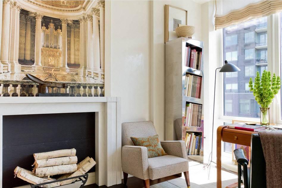 Камин в интерьере квартиры 70 фото современных идей