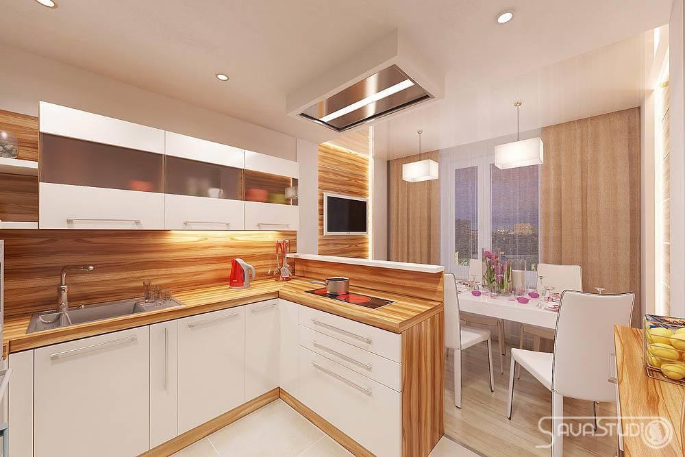 Кухни-гостиные 13 кв. м (58 фото): варианты дизайна интерьера кухни-столовой с диваном и другой мебелью