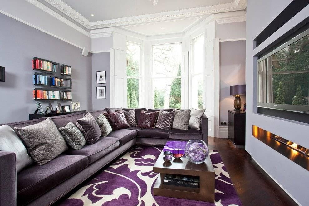 Фиолетовый диван - 135 фото самых стильных и элегантных решений применения