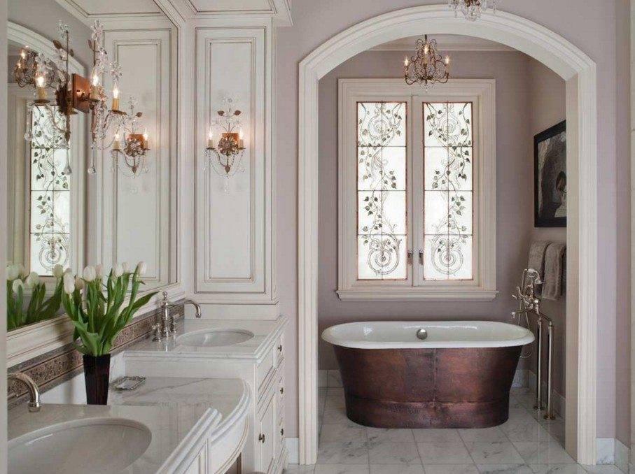 Ванная комната в классическом стиле, фото дизайна и интерьеров