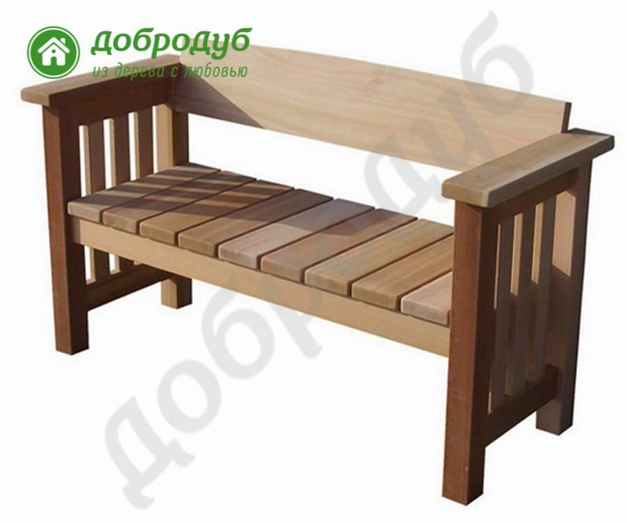 Скамейки из дерева своими руками: 3 проекта для сада и дачи