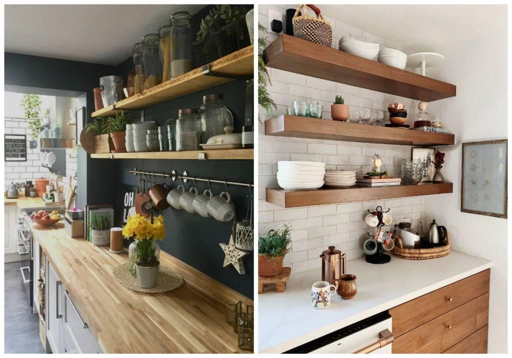 Самодельные полки для кухни – стильно, удобно, легко