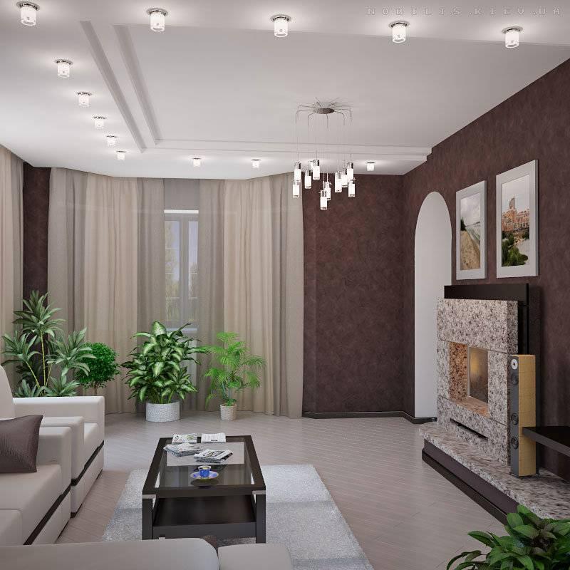 Дизайн потолка для гостиной