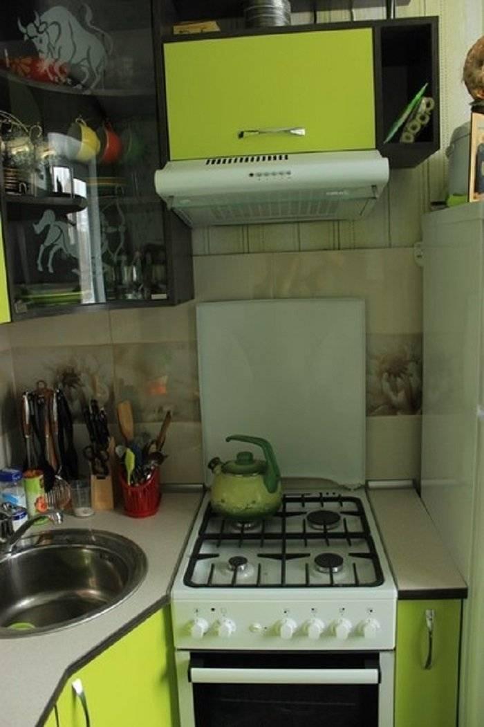 Дизайн кухни в хрущевке с газовой колонкой  — 40 фото с идеями для интерьера
