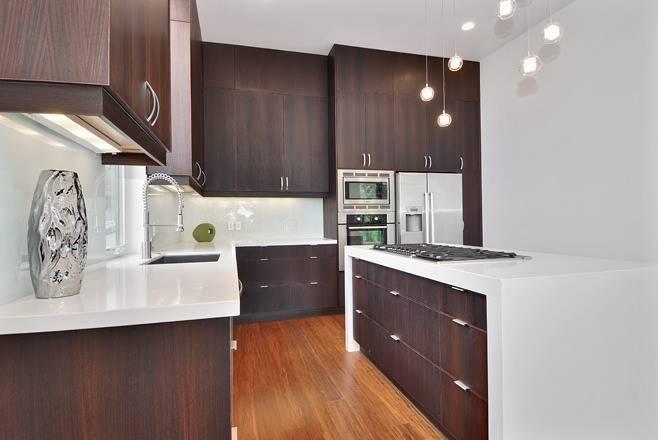 Дизайн кухни венге: сочетание с другими цветами при оформлении интерьера, оттенки для верха и низа мебели