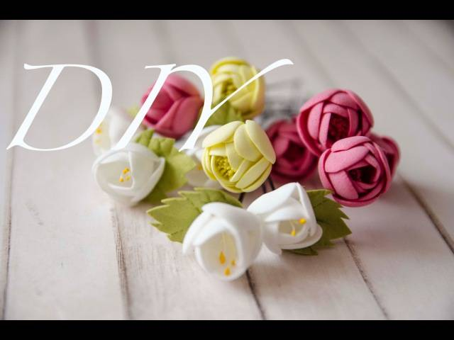 Ростовые цветы из фоамирана
