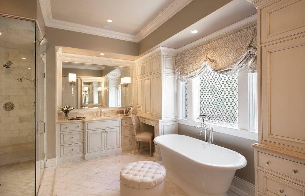 Классический дизайн ванной комнаты - 120 фото особенностей и нюансов применения классики