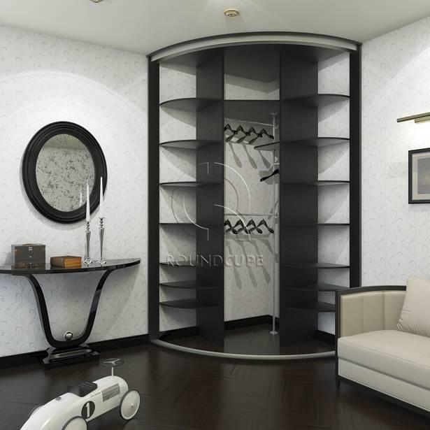 Угловые шкафы купе для спальни, их варианты и фото