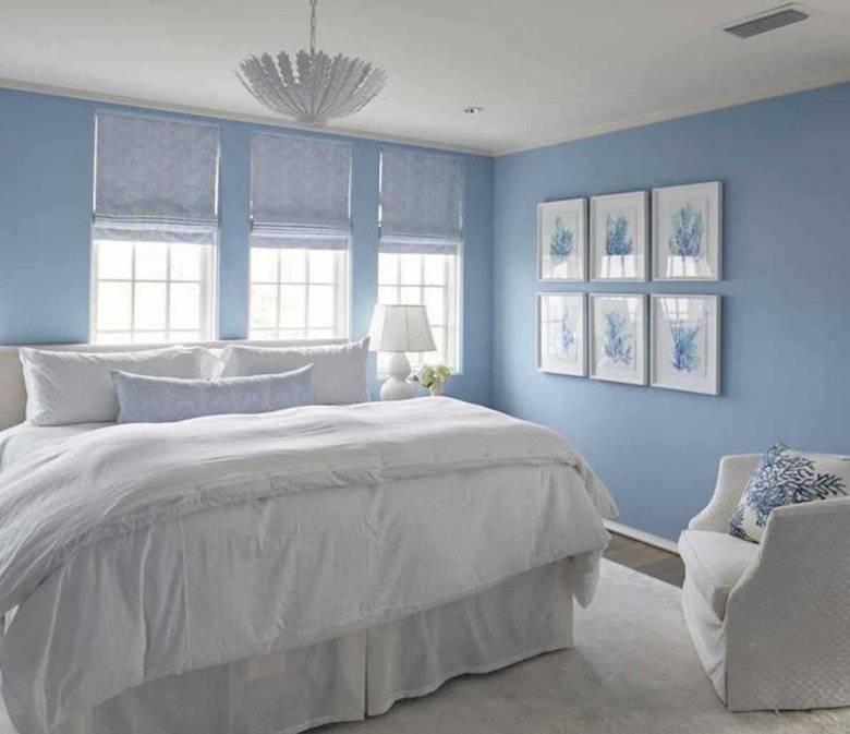 Голубая спальня — романтичный и уютный дизайн в голубых тонах (59 фото идей)