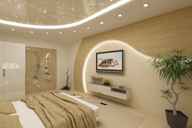 Красивый потолок из гипсокартона : 100 фото идей дизайна