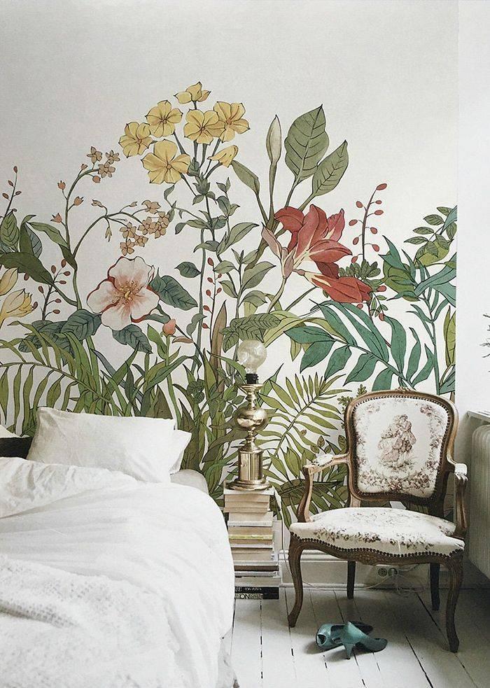 Рисунки на стене в квартире фото идеи