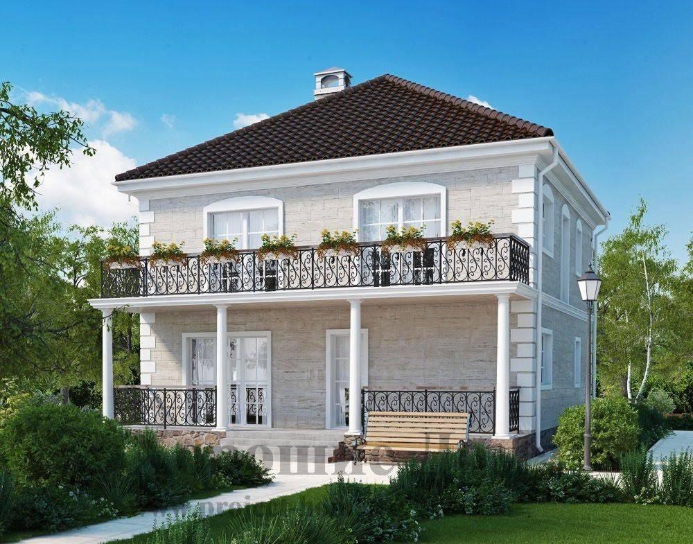 55 идей двухэтажных домов: фото, проекты, чертежи, варианты планировки