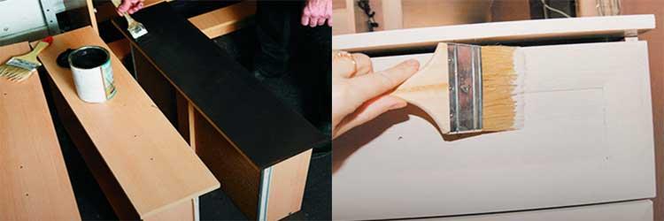 Чем перекрасить мебель из дсп, выбор краски для старой мебели из дсп