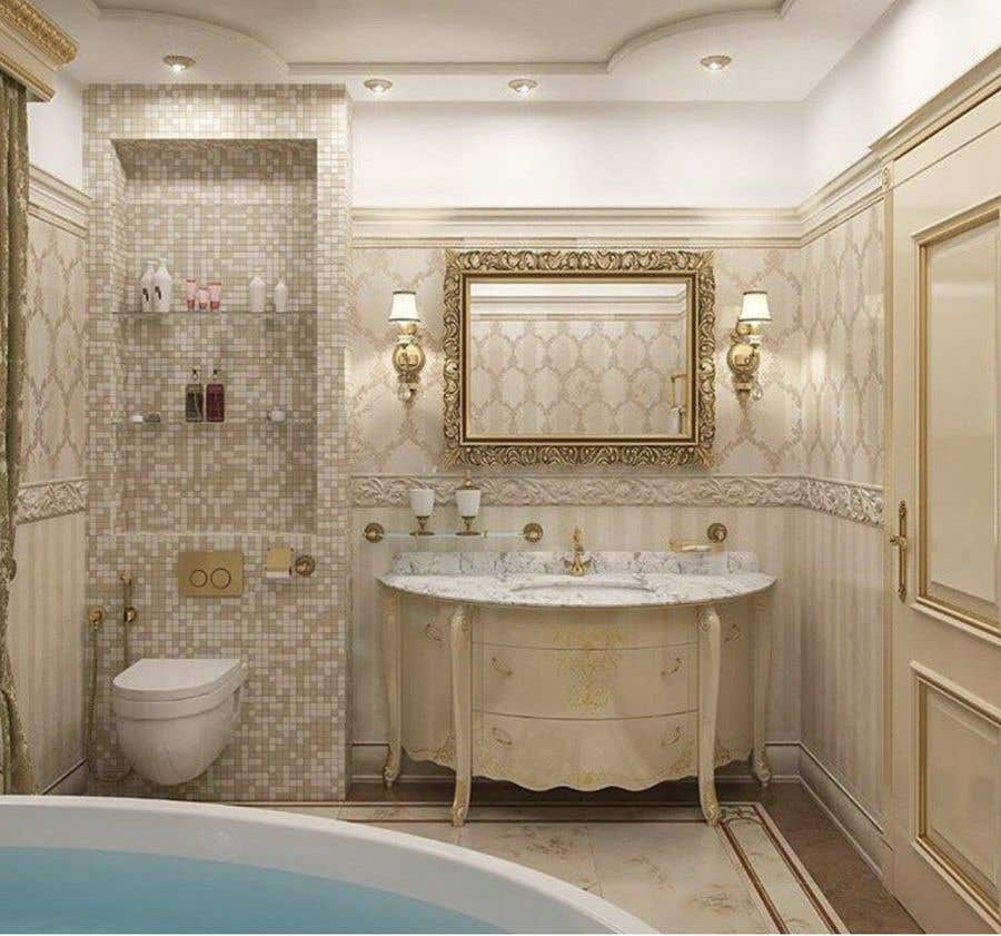 Ванная в классическом стиле: 35 вариантов дизайна