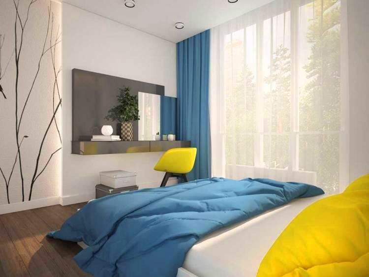 Интерьер спальной комнаты в стиле модерн