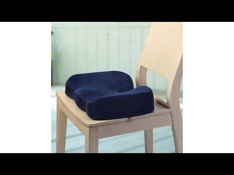 Ортопедическая подушка на стул: разновидности подкладок и подстилок для кресла