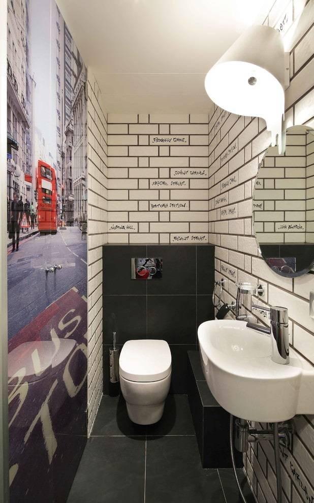 Способы отделки туалета кафельной плиткой, возможные варианты дизайна, фото удачных композиций