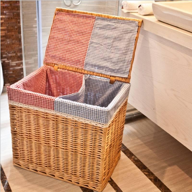 Как правильно выбрать хорошую корзину для белья в ванную комнату