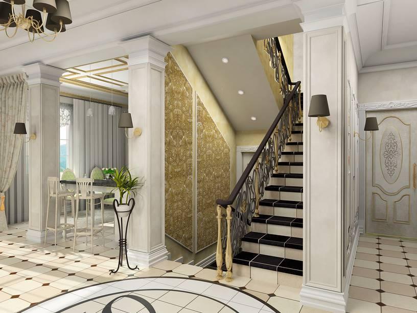 Дизайн интерьера холла с лестницей в частном доме: идеи и рекомендации - vseolestnicah