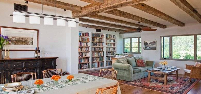 Потолок с балками: монтаж и оформление дизайна своими руками