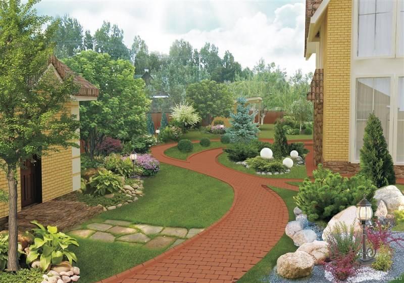 Озеленение двора частного дома своими руками: 100 идеи и фото оригинальных решений