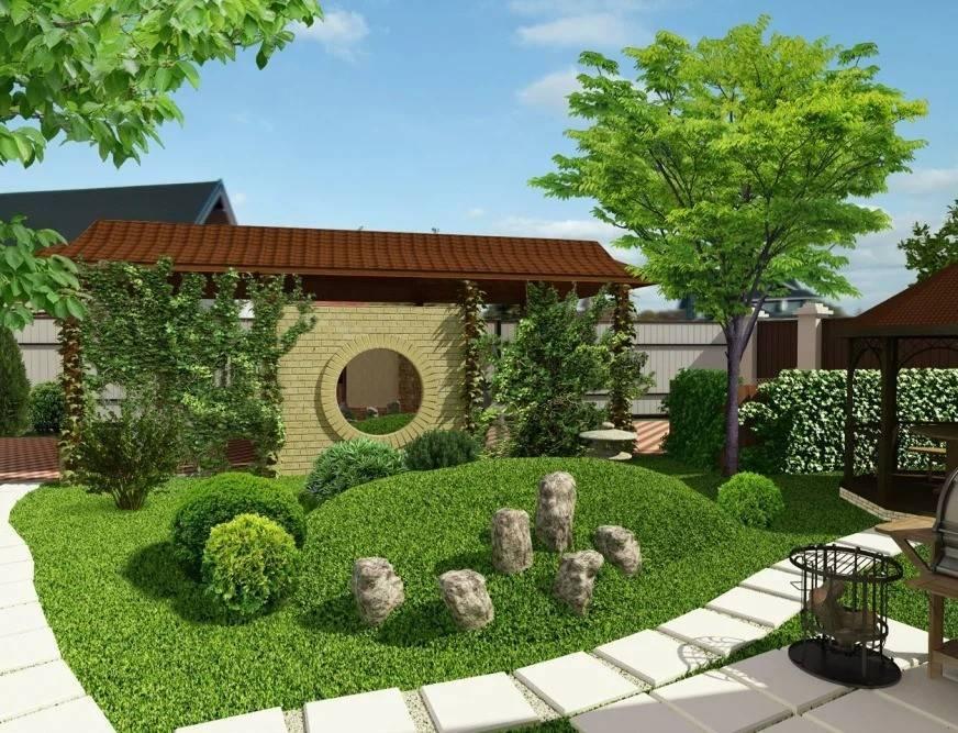 Ландшафтный дизайн участка площадью 20 соток (55 фото): планировка земельного участка с домом, гаражом и баней