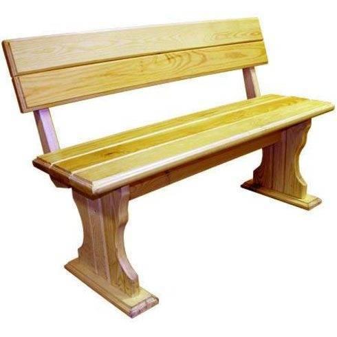 Как сделать садовую скамейку своими руками из дерева со спинкой: фото, чертежи