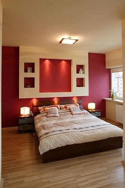 Ниша в спальне (33 фото): из гипсокартона над кроватью, дизайн ниши, как оформить в восточном стиле