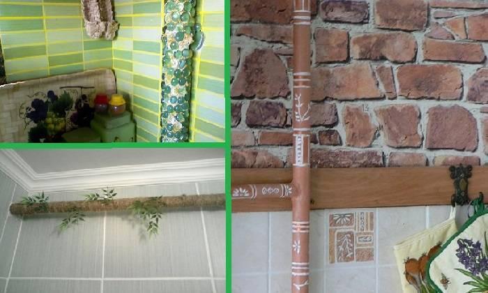 Как спрятать газовую трубу на кухне: фото вариантов