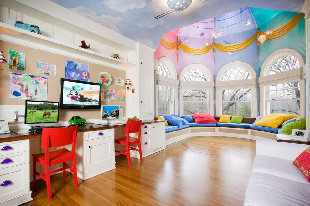 Дизайн интерьера детской комнаты: фото идей детской комнаты для детей разного возраста