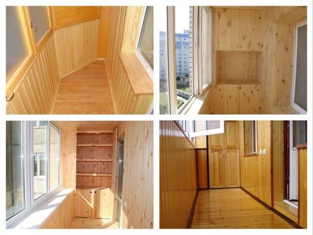 Отделка балкона вагонкой: фото как выполняется обшивка материалом