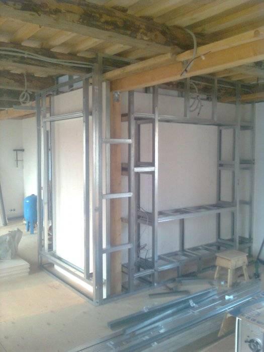 Конструкции из гипсокартона (55 фото): гипсокартонные изделия своими руками, конструкции в интерьере гостиной под телевизор
