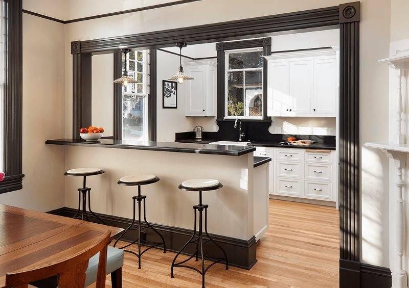 Дизайн кухни с барной стойкой: 60 фото, гид по выбору и обустройству