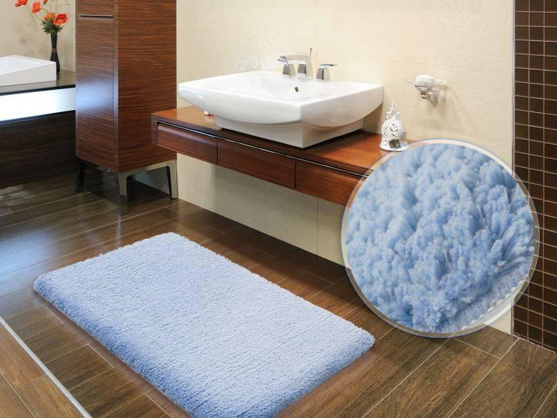 Разновидности ковриков для ванной комнаты